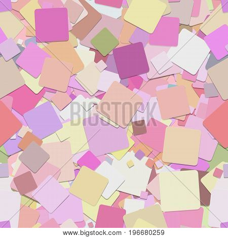 Repeating chaotic square pattern background - vector graphic design from rotated pink squares