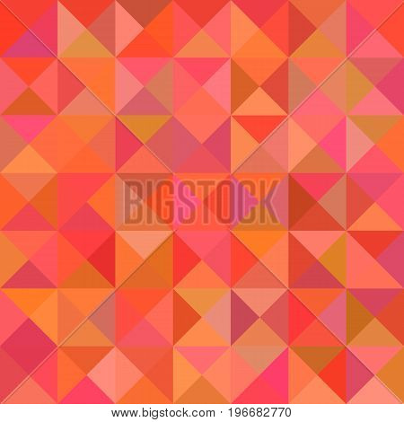 Abstract triangle pyramid pattern background - mosaic vector illustration from triangles in red colorful tones