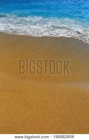 Cristal clean sea on the sand beach