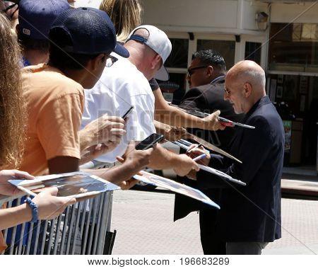LOS ANGELES - JUL 23:  Patrick Stewart, fans at