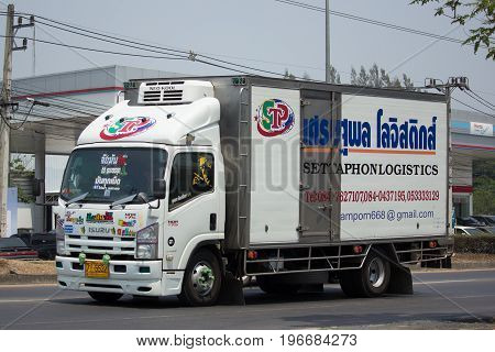 Container Truck Of Settaphon Logistics Transportation Company.