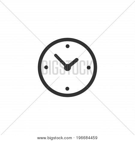 Clock time icon isolated on white background