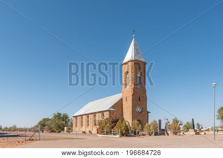MARIENTAL NAMIBIA - JUNE 14 2017: The Dutch Reformed Church in Mariental the capital town of the Hardap Region in Namibia