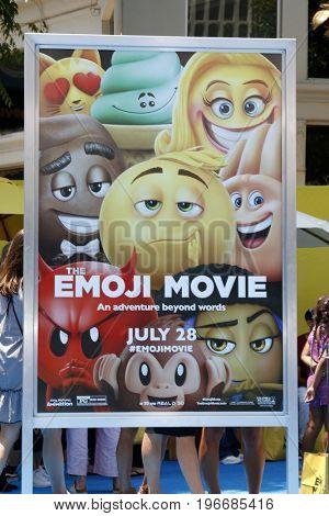 LOS ANGELES - JUL 23:  The Emoji Moive Poster at