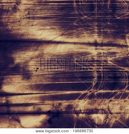 Colorful grunge texture or background with vintage style elements and different color patterns: yellow (beige); brown; gray; purple (violet)
