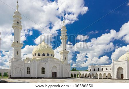 White mosque in Bolgar of Tatarstan