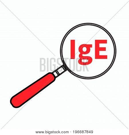 Logo analysis of blood IgE. Vector illustration