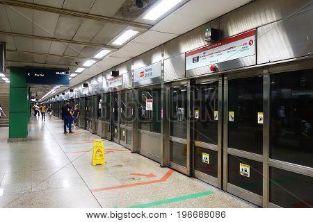 Novena Mrt Subway Station Singapore.