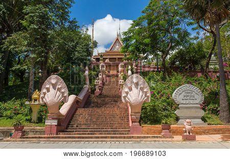 Wat Phnom temple in Phnom Penh, Cambodia