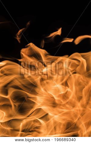 Flame of fire on a black background 3