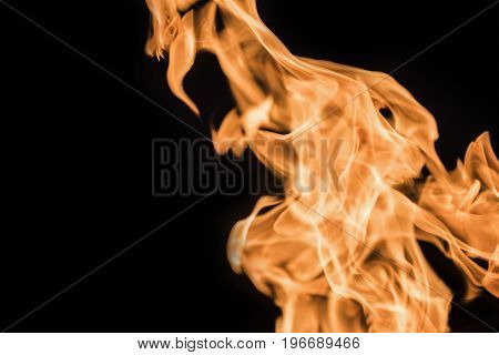 Flame of fire on a black background 2