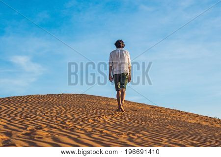 A Man Lost In The Red Desert In Vietnam, Mui Ne