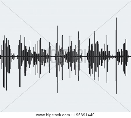 Sound wave. Audio frequency. Music wave background. Vector stock.