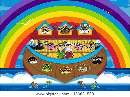 Ark & Rainbow Scene