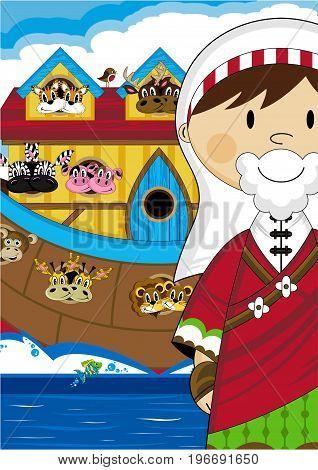Cute Noah And Ark
