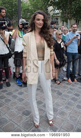 PARIS, FRANCE - JULY 04:  Actress Charlotte Le Bon attends Vogue Foundation Dinner  as part of Paris Fashion Week  Haute Couture Fall/Winter 2017-2018 July 4, 2017  Paris, France