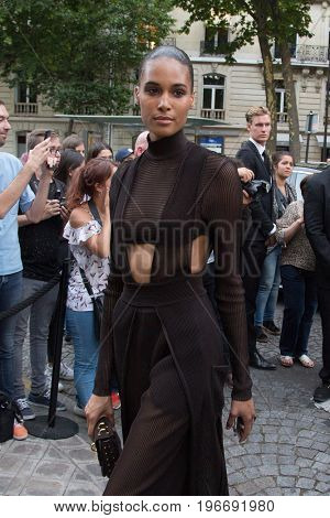 PARIS, FRANCE - JULY 04:  Cindy Bruna attends Vogue Foundation Dinner  as part of Paris Fashion Week  Haute Couture Fall/Winter 2017-2018 July 4, 2017  Paris, France