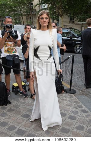 PARIS, FRANCE - JULY 04:  Constance Jablonski  attends Vogue Foundation Dinner  as part of Paris Fashion Week  Haute Couture Fall/Winter 2017-2018 July 4, 2017  Paris, France