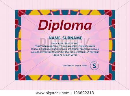 Business Card Decorated With Mandala. Vector Template For Restaurant Menu, Flyer, Greeting Card, Bro