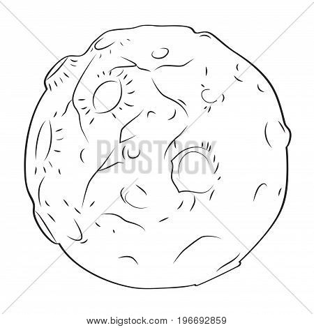 Cartoon image of alien planet. An artistic freehand picture.