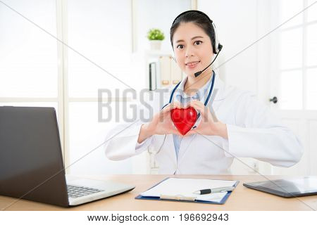 Young Professional Woman Right Cardiologist