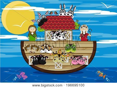 Noah & The Ark At Sea