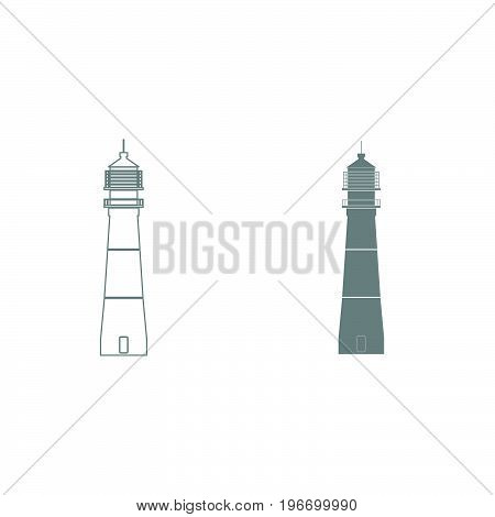 Lighthouse Grey Color Set Icon .