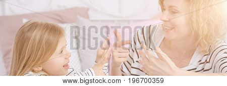 Woman Spending Time With Daughter