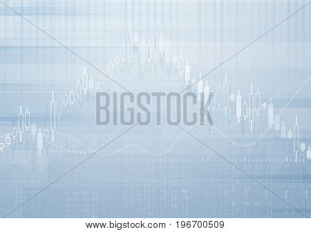 Banking business graph vector background. Investment and economy concept with financial chart. Financial graph and business chart stock illustration