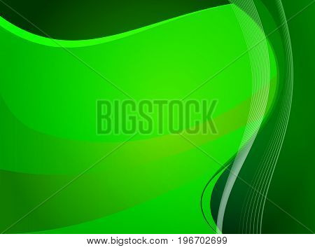 Green background of lines, vector art illustration.