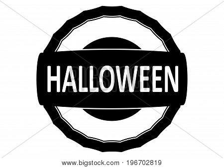 Halloween Rubber Stamp. Flat Vector.