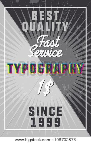 Color vintage typography banner. Vector illustration, EPS 10