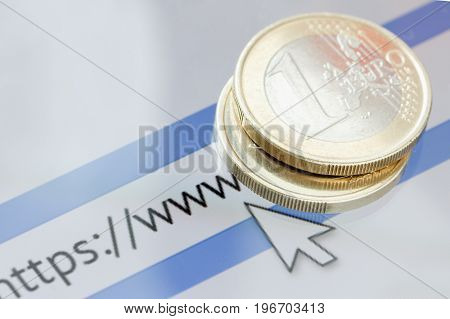 Digital money bitcoin and network connection concept. smartphone screen