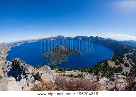 Crater Lake On A Clear Day