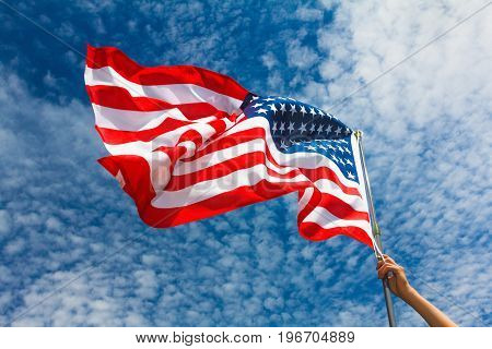 USA flag background. American symbol of 4th of July Independence Day democracy and patriotism