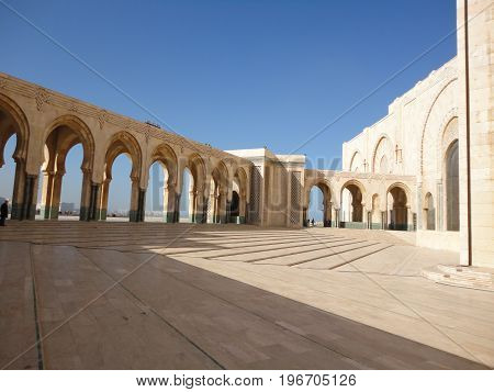 Hassan II mosque at Casablanca, in Morocco.