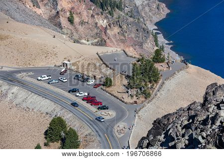 Watchman Overlook At Crater Lake National Park
