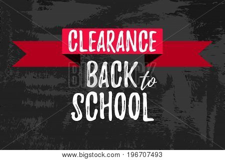 Clearance Back To School Typographic.