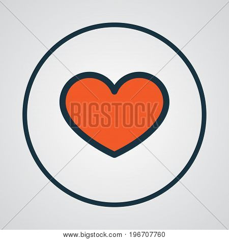 Premium Quality Isolated Heart Element In Trendy Style.  Favorite Colorful Outline Symbol.