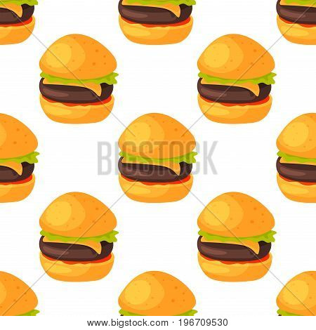 Fast food seamless pattern natural menu restaurant fresh product and kitchen cartoon meal cooking cuisine sketchy organic vector illustration. Vintage fresh tasty product.