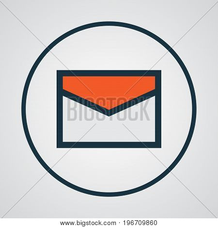 Premium Quality Isolated Message Element In Trendy Style.  Email Colorful Outline Symbol.
