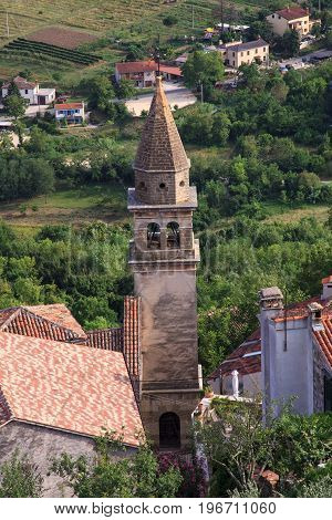 View of the Church of St.John the Baptist and Blessed Virgin Mary of the Gate Motovun