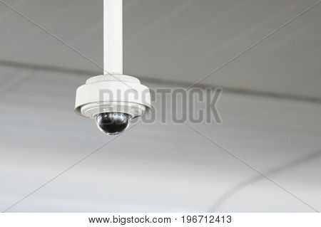Surveillance CCTV camera system security blur background
