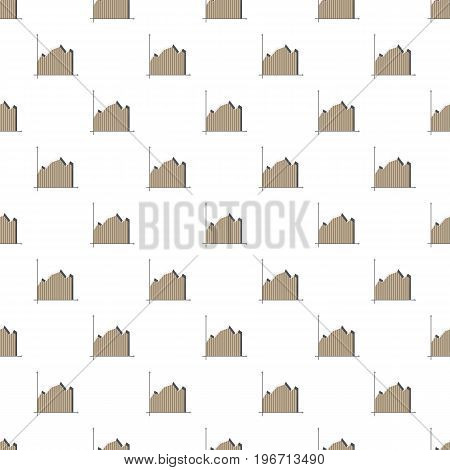 Gray business graph pattern seamless repeat in cartoon style vector illustration