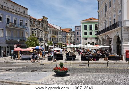 Square In Aveiro, Portugal