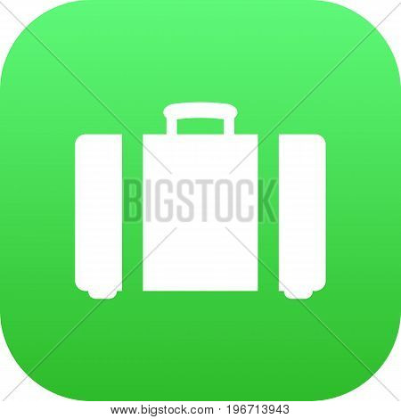 Vector Suitcase  Element In Trendy Style.  Isolated Baggage Icon Symbol On Clean Background.
