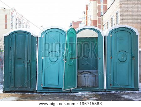 transportable public street toilet Bio mobile toilets in city