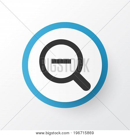 Premium Quality Isolated Magnifying Element In Trendy Style.  Zoom Out Icon Symbol.