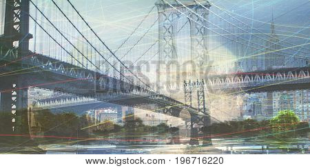NYC Composition  3D rendering