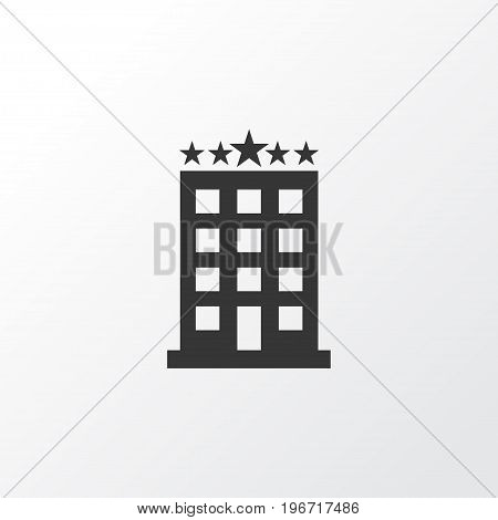 Premium Quality Isolated Building Element In Trendy Style.  Hotel Icon Symbol.